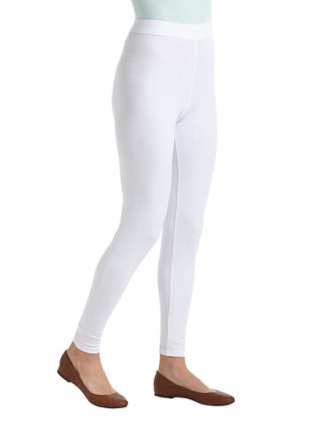 Womens White Summer Leggings