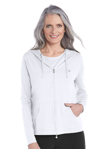 Womens White Seaside Hoodie
