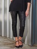 Womens Black Python The You Pant 4
