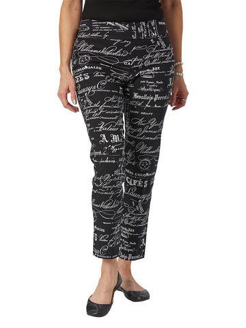 Womens Black/White French News  The You Pant