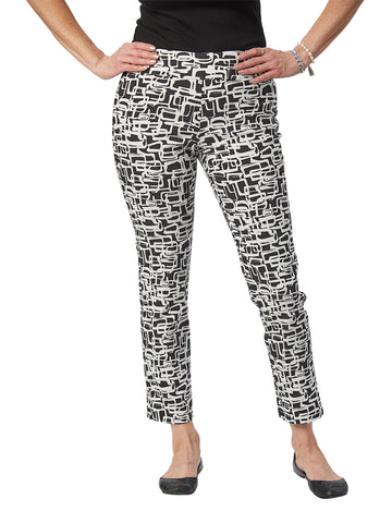 Womens Black & White Links  The You Pant