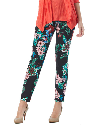 Womens Black flower The You Pant