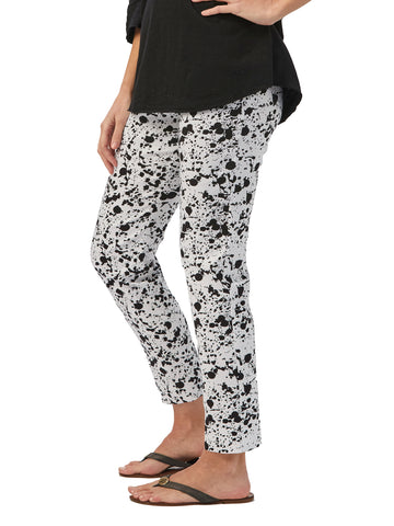 Womens White/Black Splatter The You Pant 2 Alternate View