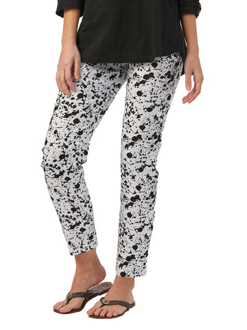 Womens White/Black Splatter The You Pant