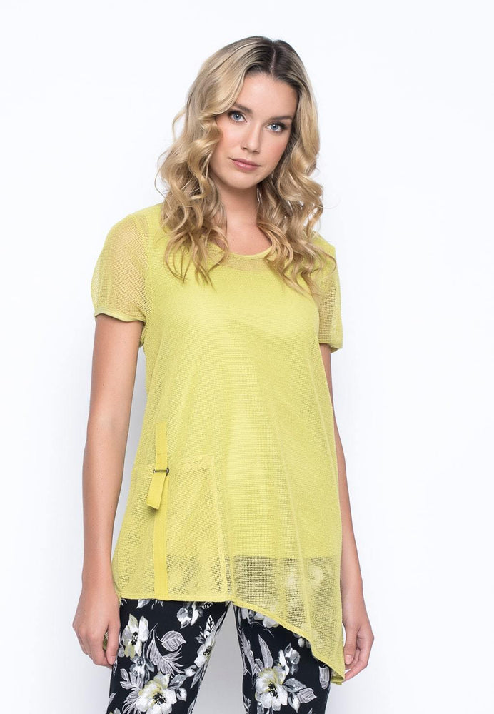 Short Sleeve Asymmetric Hem Top | Picadilly - Patchington
