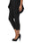 Womens Black Destination Collection - Split Capri 2 Alternate View