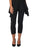 Womens Black Destination Collection - Split Capri