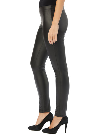 Womens Black Destination Collection - Liquid Leather Pant 2 Alternate View