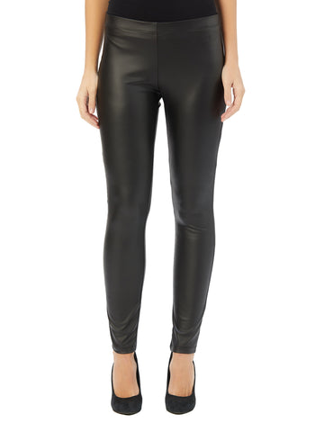 Womens Black Destination Collection - Liquid Leather Pant