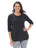 Womens Black Destination Collection - KRAZY LOLA HIGH/LOW TUNIC