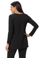 Destination Collection - Long Sleeve Scoop Neck Tunic | Patchington - Patchington