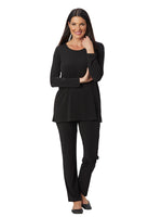 Destination Collection - Long Sleeve Scoop Neck Tunic - Patchington