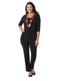 Womens Black Destination Collection - Side Vent Tunic 4