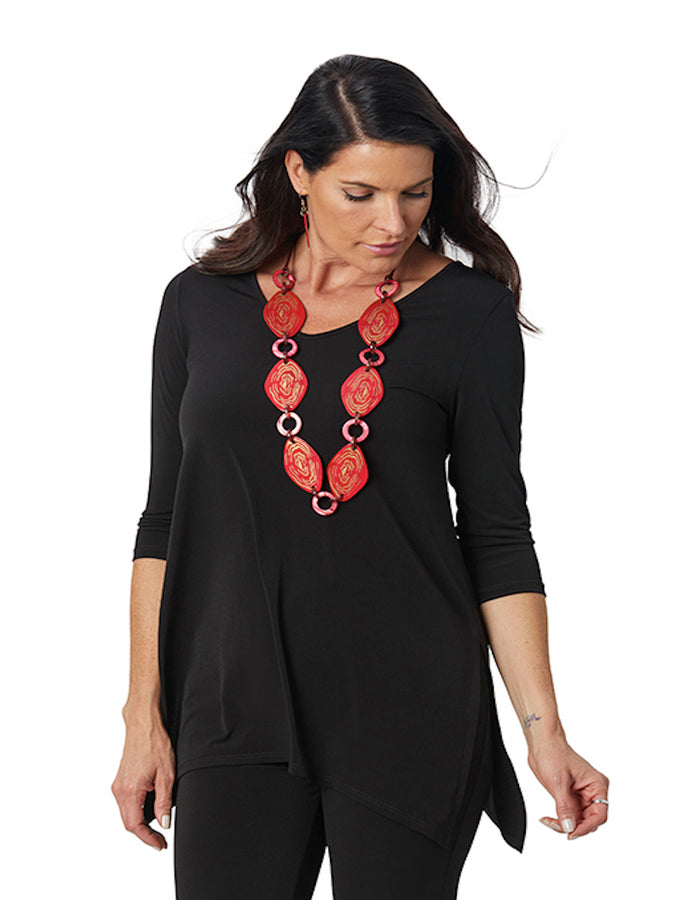 Womens Black Destination Collection - Side Vent Tunic