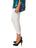 Womens White Destination Collection - Split Capri 2 Alternate View