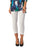 Womens White Destination Collection - Split Capri