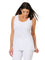Womens White Destination Collection - Scoop Mid Length Tank