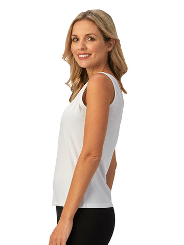 Womens White Destination Collection - Two Way Tank 2 Alternate View