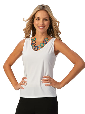 Womens White Destination Collection - Two Way Tank