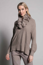 Textured Sweater Top With Slits | Picadilly - Patchington
