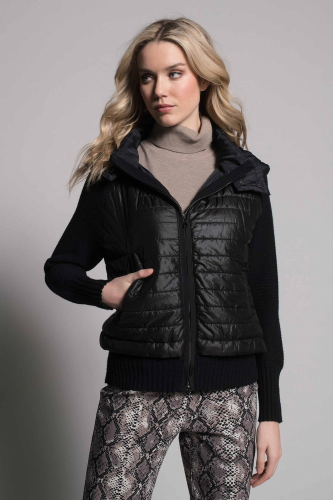 Quilted Zip-Front Hooded Jacket | Picadilly - Patchington