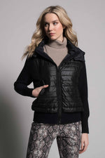 Quilted Zip-Front Hooded Jacket