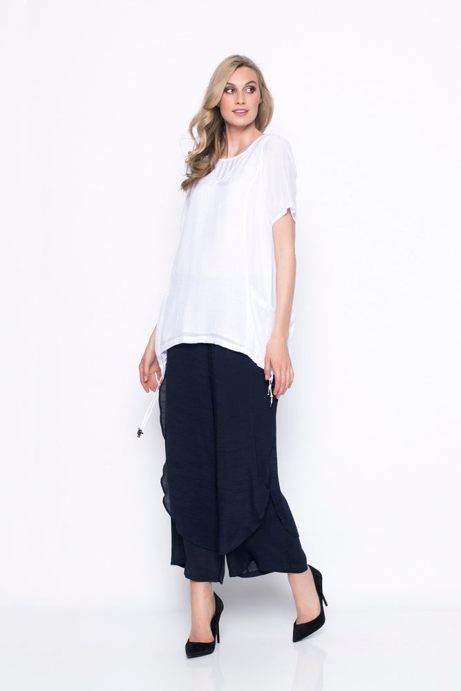 Short Sleeve Top With Drawstring | Picadilly - Patchington