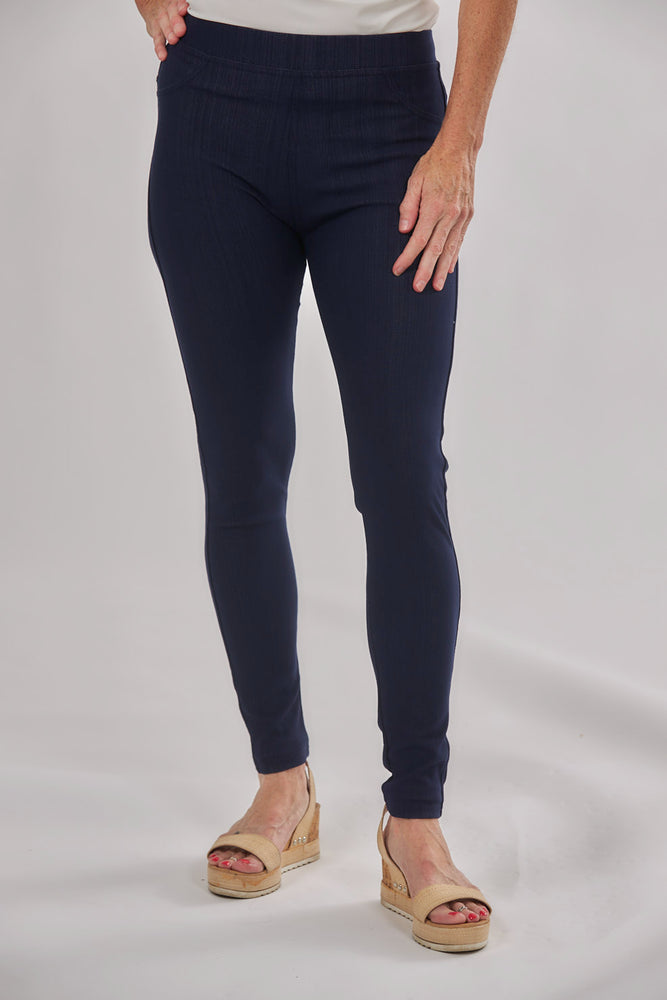Ankle Denim Leggings | Patchington - Patchington