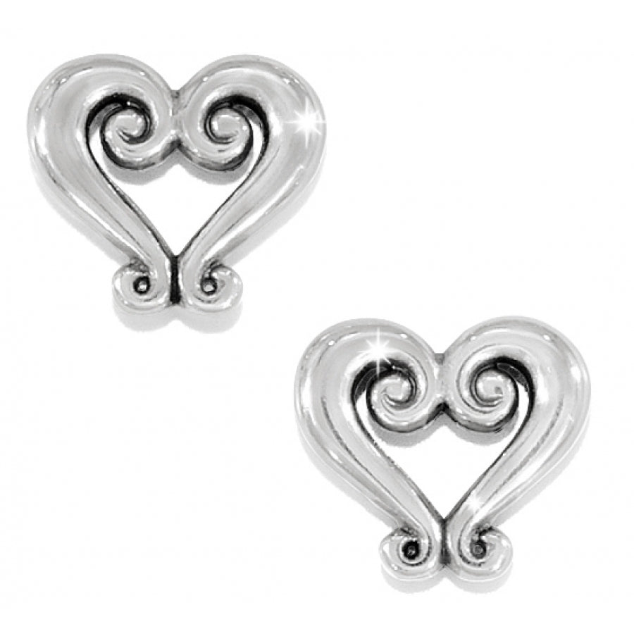 Genoa Heart Mini Post Earrings