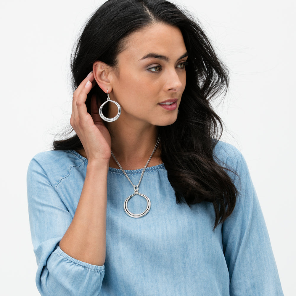 Interlok Circle French Wire Earrings - Patchington