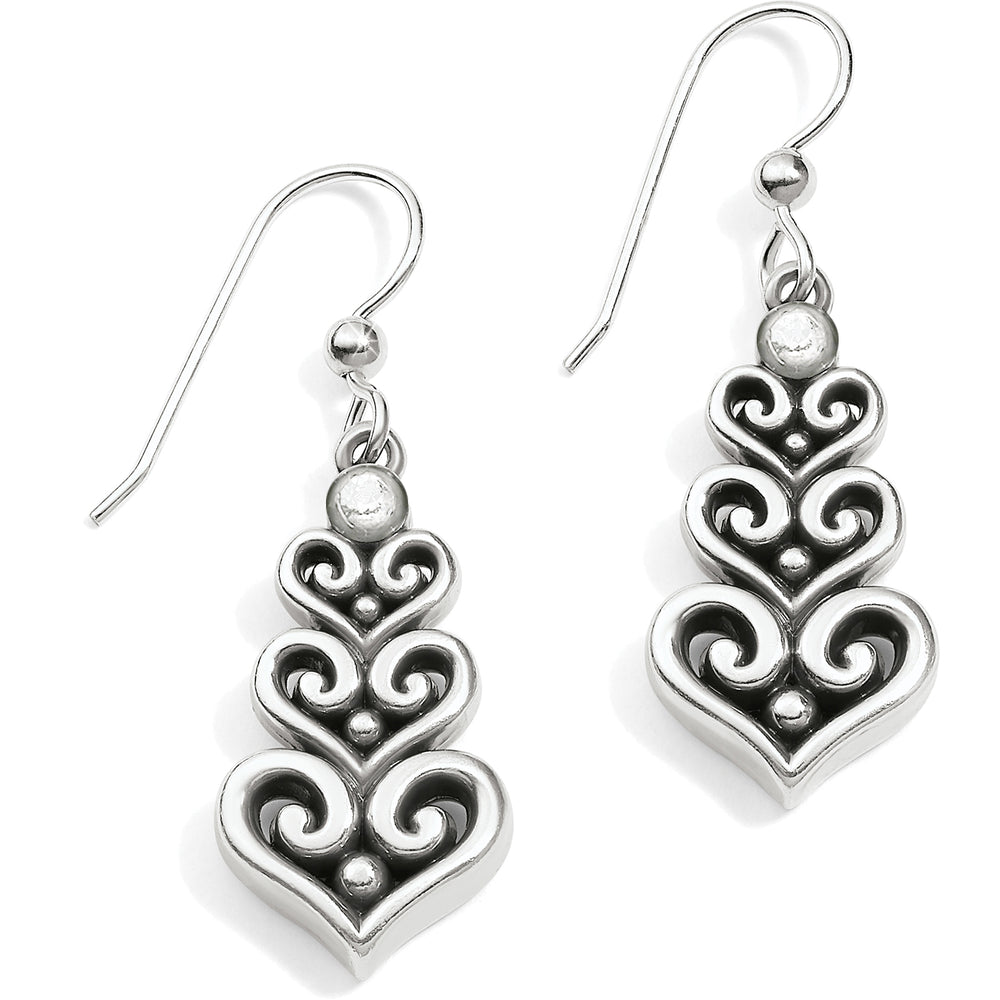 Alcazar Heart Trio French Wire Earrings
