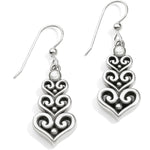 Alcazar Heart Trio French Wire Earrings | Brighton - Patchington