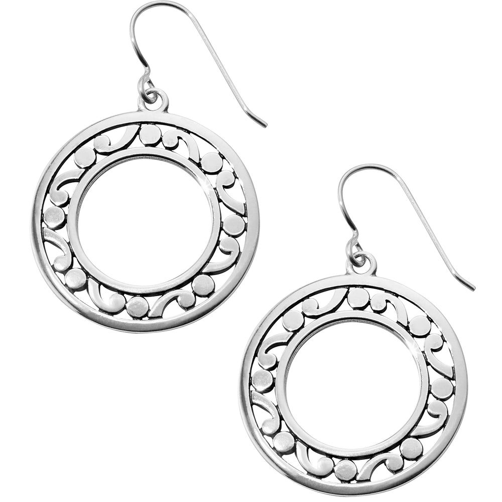Contempo Open Ring French Wire Earrings - Patchington