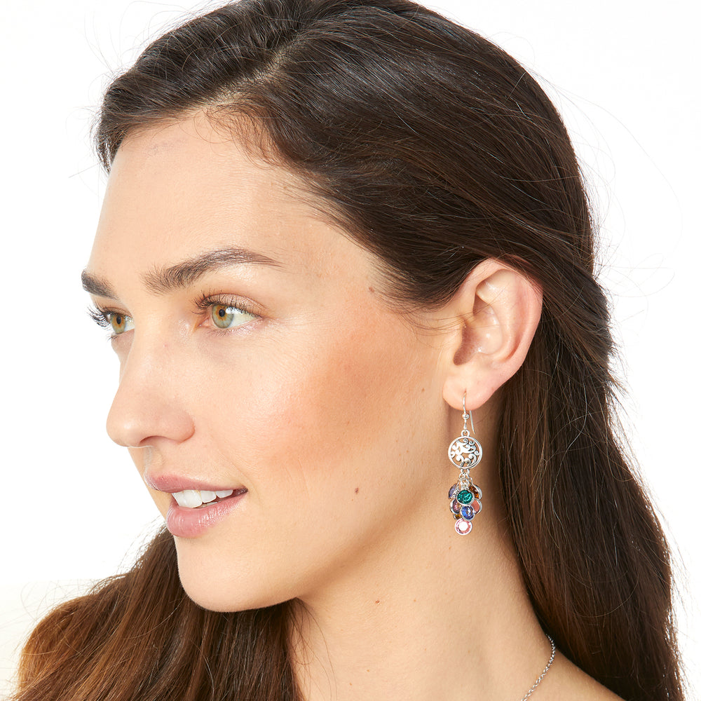 Elora Gems Cascade French Wire Earrings - Patchington