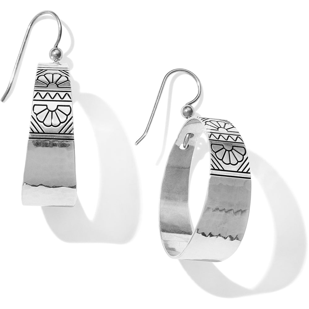 Marrakesh Mesa Hoop French Wire Earrings | Brighton - Patchington