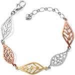 Barbados Leaves Mix Metal Bracelet