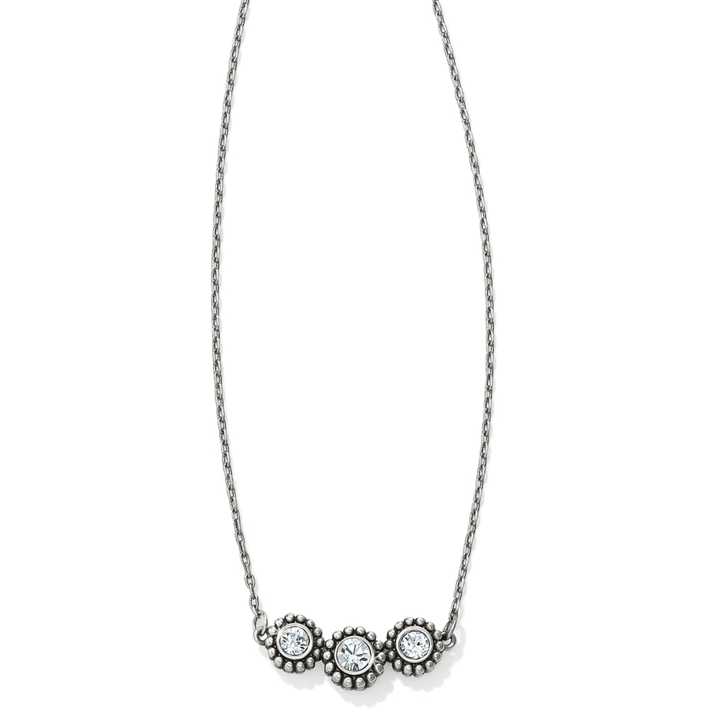 Twinkle Triple Stone Necklace | Brighton - Patchington