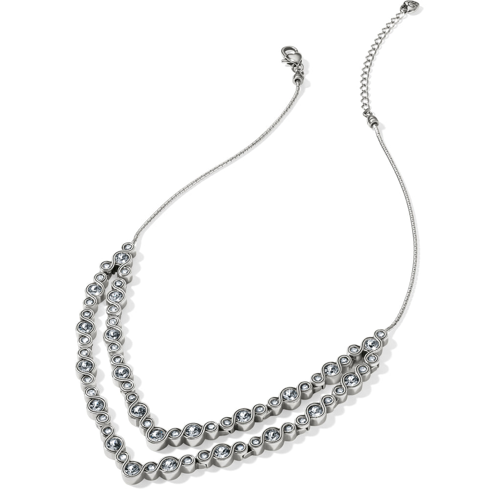 Infinity Sparkle Collar Necklace