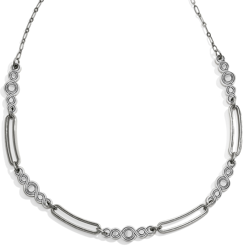 Infinity Sparkle Link Collar Necklace | Brighton - Patchington