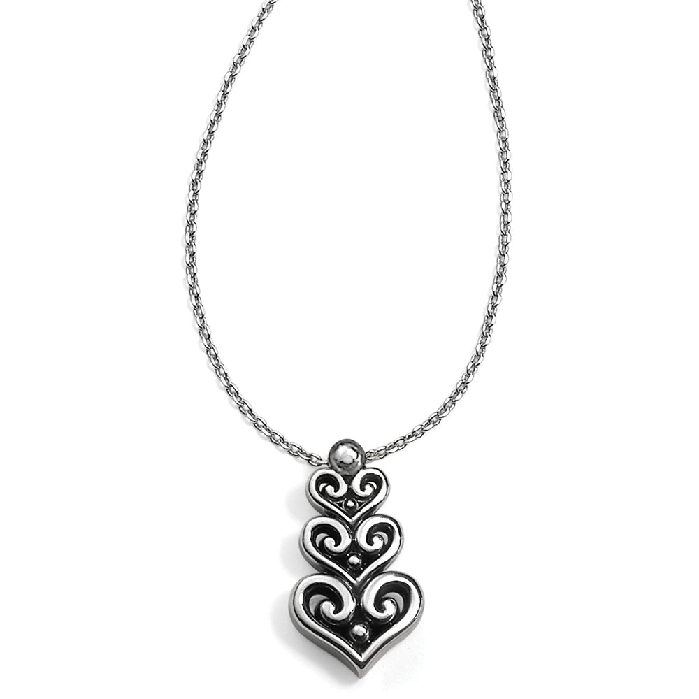 Alcazar Heart Trio Short Necklace | Brighton - Patchington