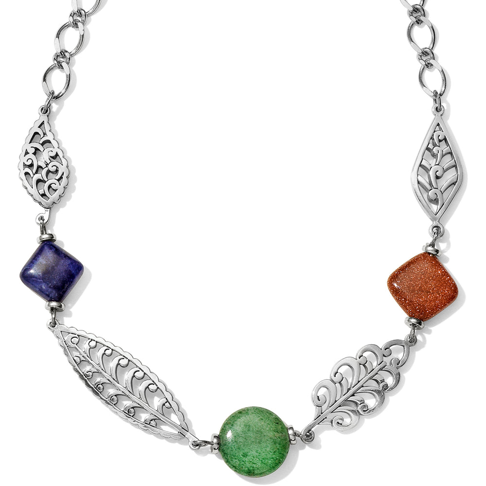 Barbados Leaves Stone Short Necklace | Brighton - Patchington