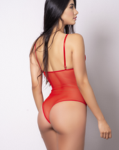 BODY EN TULL ROJO
