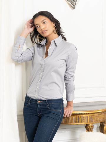 Womens Ash Grey The Essentials Icon Shirt 2