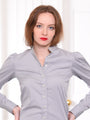 Womens Ash Grey The Puffed Shoulder Shirt 2