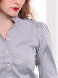 Womens Ash Grey The Puffed Shoulder Shirt 4