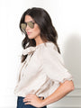 Womens Beige/Beige Stripe The Antoinette Shirt 2