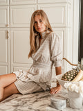 Womens Beige Linen The Tiered Minidress 5