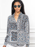 Womens Black/Blue Leopard The Signature Shirt in Black/Blue Leopard 4