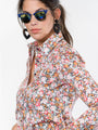 Womens Black Floral The Icon Shirt in Floral 2