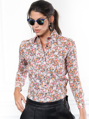 Womens Black Floral The Icon Shirt in Floral